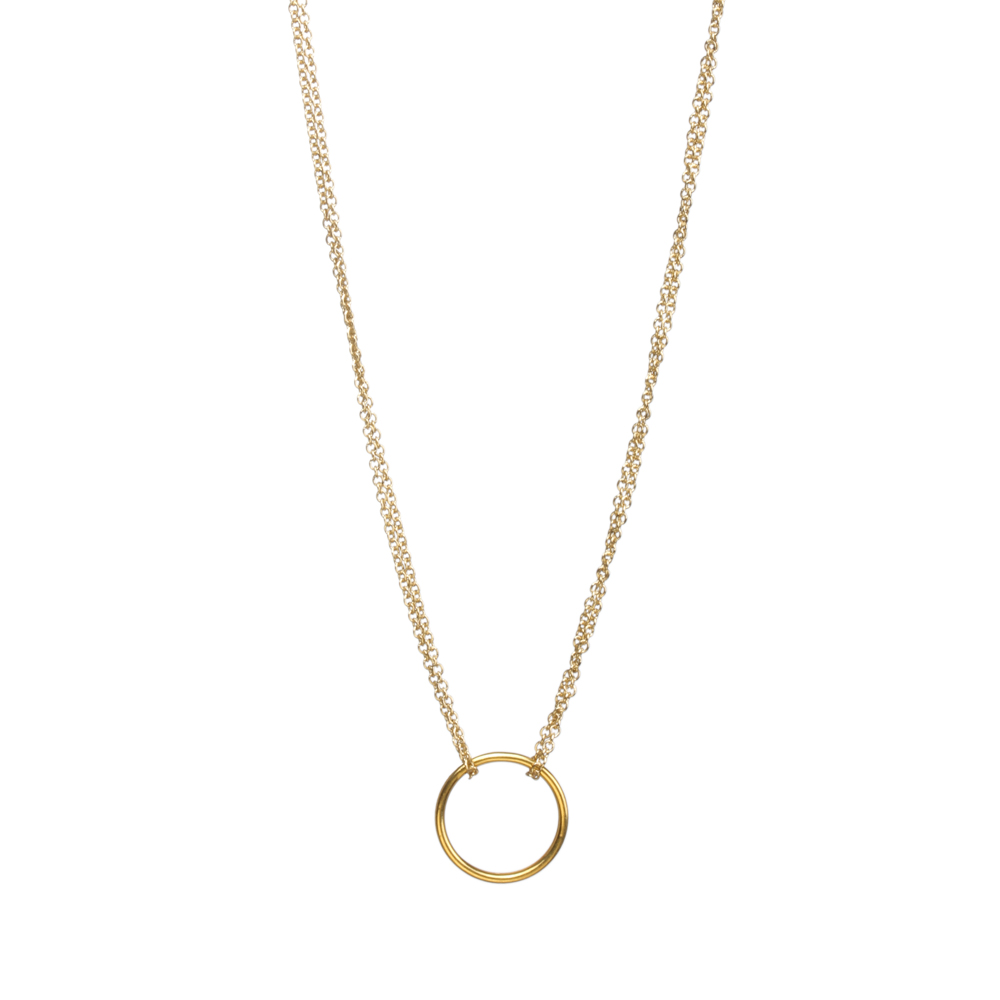 Gold chain with pendant-4264
