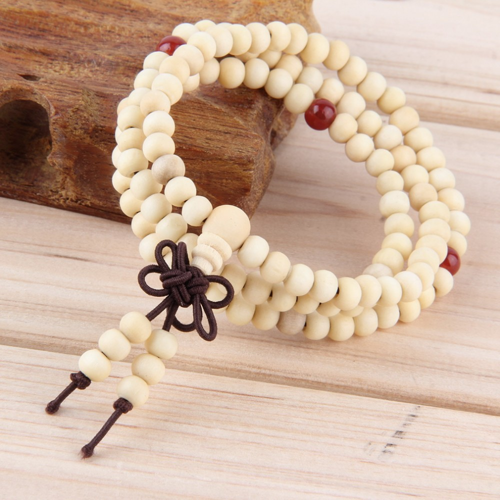 Natural Sandalwood Buddhist Meditation Bracelet Fashion