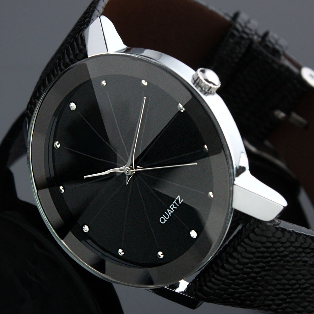 Luxury Black Stainless Steel Limitary Quartz Watch