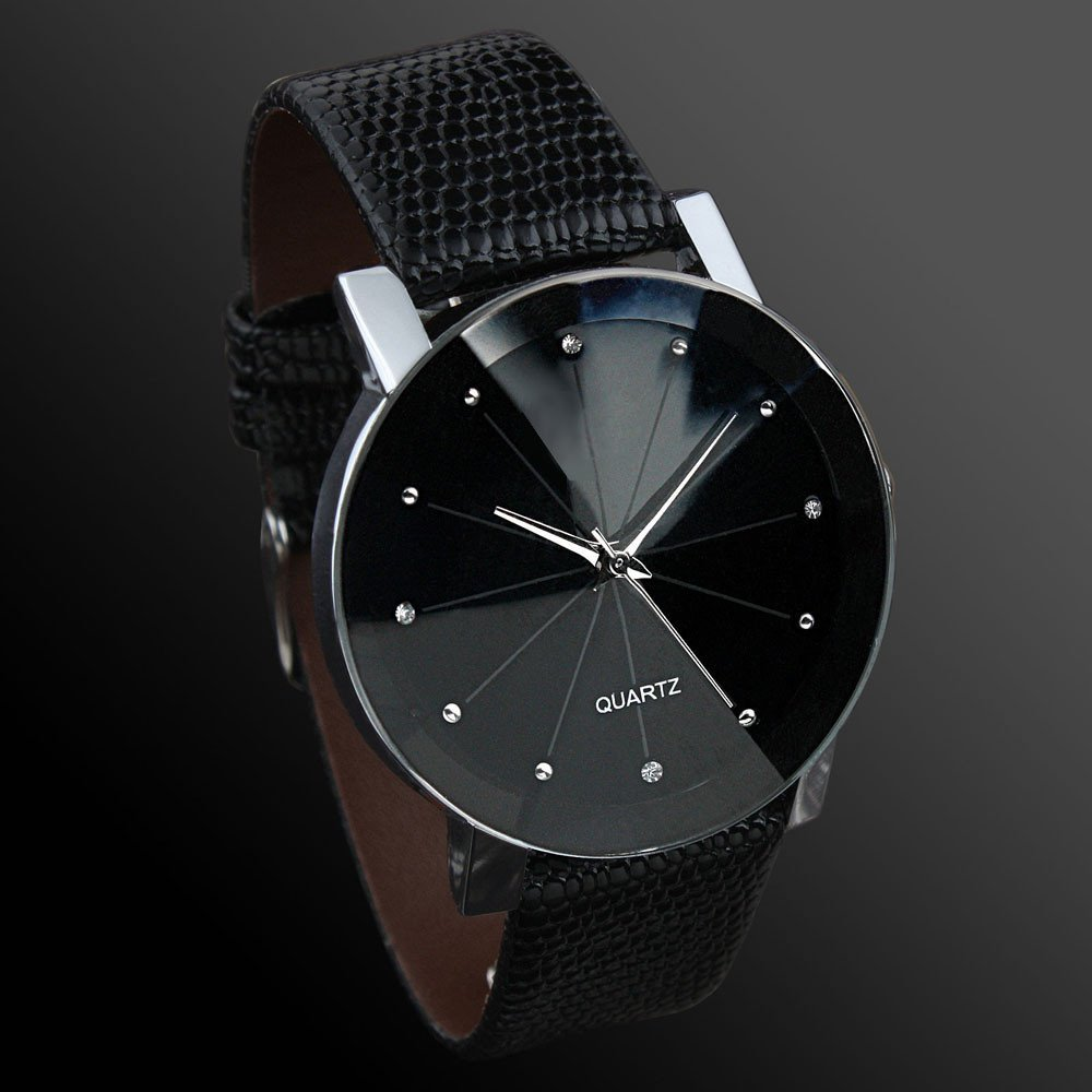 Luxury black stainless steel limitary quartz watch fashion jewelry online for Metal watches